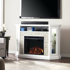stacked stone electric fireplace faux diy sirio oak flame thermostat with sensor promotions small kettle free
