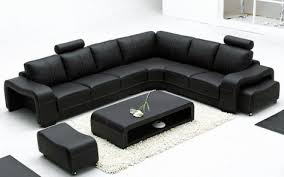 palermo italian modular corner sofa black leather