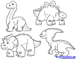 Small Picture How to Draw Cute Dinosaurs Cute Dinosaurs Step by Step
