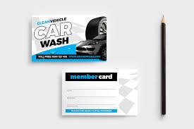 Car Wash Visiting Card Design Car Wash Business Card Template In Psd Ai Vector