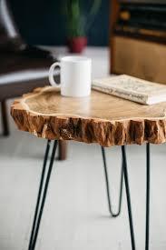 round coffee table live edge coffee