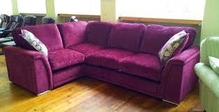 corner sofa in chenille fabric