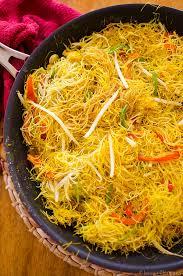 vegetarian singapore noodles living lou