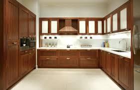 Modern Kitchen Cabinet Colors Fancy White Laminate And Lava Teak U