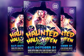 Costume Contest Flyer Template Haunted Halloween Costume Party Flyer Template