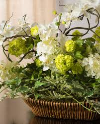... Orchid Snowball Arrangement in Basket ...