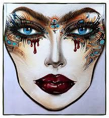Full Face Makeup Drawing Makeupview Co