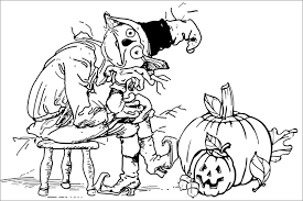 Small Picture Halloween Coloring Pages Online Scary Coloring Page