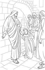 Jezus Geneest Dochter Van Kanaänitische Vrouw Kleurplaat Gratis