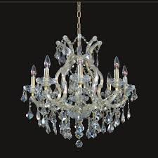 european style 8 1 lights gold crystal gold finish chandelier