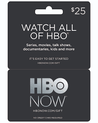 hbo now gift card 25