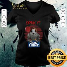 Funny Bud Light Shirts Funny Pennywise Drink It Bud Light Shirt Hoodie Sweater