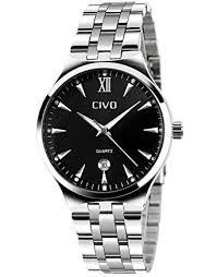 civo mens luxury stainless steel band business casual wrist civo mens luxury stainless steel band business casual wrist watches men s analogue quartz dress watch fashion