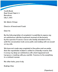 Complaint Letters Samples Business Correspondence Complaint Letter