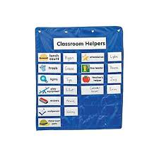 Classroom Helpers Pocket Chart Classroom Helpers Pocket Chart Oshc Craft Kits