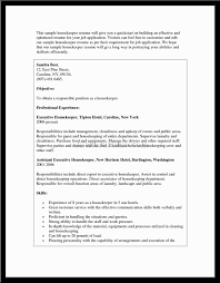 Hospital Housekeeping Resume Goals In Hotel Examples Housekeeping