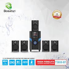 Loa Vi Tính 5.1 Bosston T3800 BT , Kết Nối Bluetooth. Bộ 5 Loa Vệ Tinh , 1  Loa Phóng Cho Âm Thanh Cực Phẩm , Đèn Led Ligh Cực Đẹp, Bluetooth