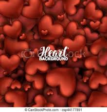 february heart background. Fine Heart February 14 Love Romantic 3d Realistic Red Hearts Background With Happy  Valentines Day Vector Illustration And Heart Background A