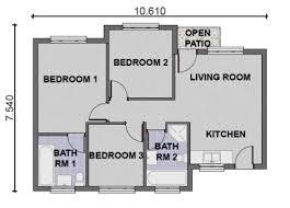 3 bedroom modern house plans homes floor