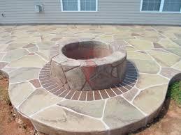 patio brick border fire pit decorative concrete overlay of fire pit stone design with brick border