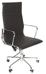 Image Ribbed Office Charles Eames Style Office Chair Black Faux Leather High Back Specialist Furniture Contracts Specialist Furniture Contracts Charles Eames Style Office Chair Black Faux Leather High Back