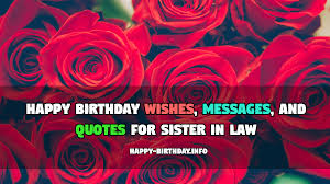 Happy Birthday Wishes Messages And Quotes For Sister In Law
