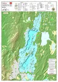 Lake Simcoe Depth Chart Couchiching Lake 228 Laminated Colour Waterproof Map From