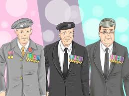 how to wear medals on civilian clothes