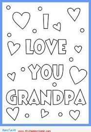 Free printable father's day cards in high quality pdf format that you can print and fold at home to give to your dad. I Love You Grandpa On The Occasion Of Father S Day Father S Day Grandfather Father S Day Printable Fathers Day Coloring Page Happy Birthday Coloring Pages