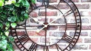 large garden wall clocks oversize outdoor clock oversized giant met