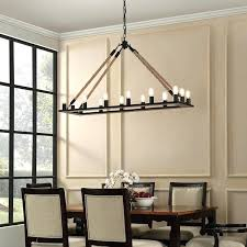 modern farmhouse chandelier light candle style dining room