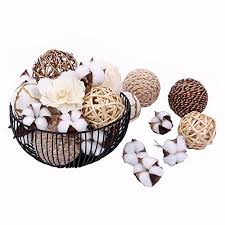 Decorative Vase Filler Balls Cool Bag Of Assorted Decorative Spherical Natural Woven Twig Rattan And