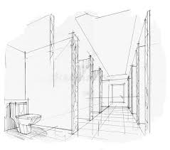 interior design drawings perspective. Perfect Design Download Sketch Interior Perspective Toilet Black And White Design  Stock Illustration  In Design Drawings R