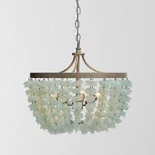 frost sea glass shards chandelier