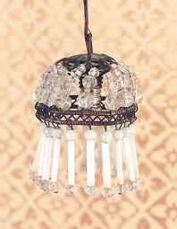 crystal chandelier with milk glass drops