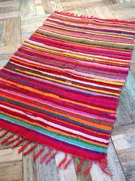 rag rugs chindis bright multi colour shabby chic rug