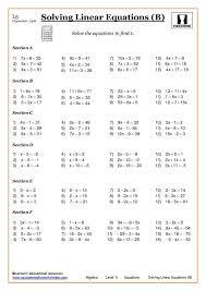 linear equations worksheets grade breadandhearth simple algebraic linear worksheet the best image equ medium
