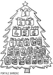 Disegni Calendario Dell Avvento Da Colorare Ikbenalles