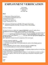 Employment Verification Letter For Visa Template Business