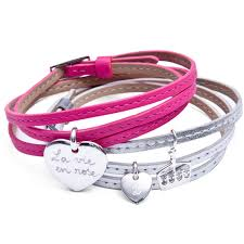 top quality personalised leather wrap charm bracelet 38143 77dd5