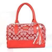 Coach Legacy Weekend In Signature Medium Red Satchels ADM