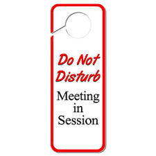Do Not Disturb Meeting In Progress Sign Do Not Disturb Meeting In Session Plastic Door Knob Hanger Sign Ebay