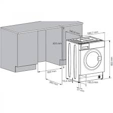 washing machines dimensions. Unique Dimensions Beko WMI71441 7Kg 1400Rpm Built In Washing Machine  Integrated  Machines Laundry For Dimensions M
