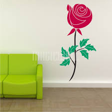 rose flower wall decal sticker