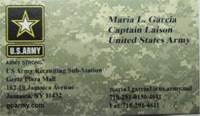 Army Recruiter Business Cards Arts Arts