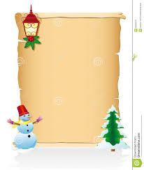 Blank Christmas Background Vintage Christmas Blank Scroll Vector Illustration Stock Vector