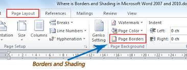 Microsoft Word Border Where Is The Borders And Shading In Word 2007 2010 2013 And 2016