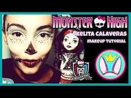 monster high skelita calaveras makeup tutorial costume