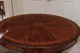 Rosewood Dining Table 48 Inch Round Dining Table With Drawers Rosewood And Mahogany