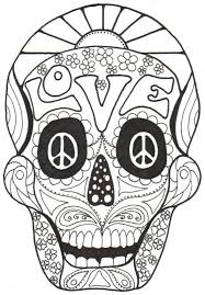 Small Picture Sugar Skulls Coloring Pages Free sugar skulls coloring pages